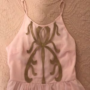Light pink and gold dress